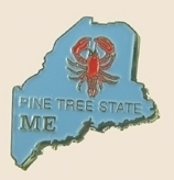 12 Pins - MAINE , state hat tac lapel pin sp343