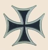 12 Pins - MALTESE CROSS lapel iron hat lapel pin sp180