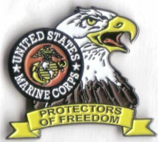 12 Pins - MARINES PROTECTORS FREEDOM usmc eagle pin 444
