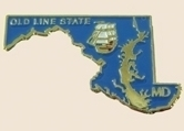 12 Pins - MARYLAND , state hat tac lapel pin sp344