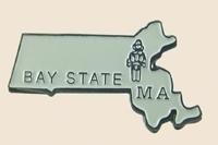 12 Pins - Massachusetts , hat tac lapel pin sp345