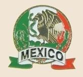 12 Pins - MEXICO EMBLEM , mexican flag lapel pin sp046