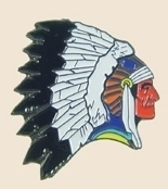 12 Pins - NATIVE AMERICAN INDIAN CHIEF lapel pin sp137