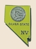 12 Pins - NEVADA , state hat tac lapel pin sp352