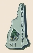 12 Pins - NEW HAMPSHIRE , state hat tac lapel pin sp353
