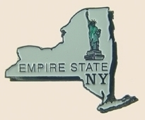 12 Pins - NEW YORK , state hat tac lapel pin sp356