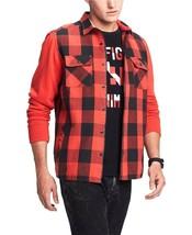 NEW TOMMY HILFIGER BLACK RED BUFFALO PLAID TWILL BOWERY SHIRT W/ POCKETS... - $39.59