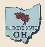 12 Pins - OHIO , state hat tac lapel pin sp359