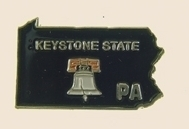 12 Pins - PENNSYLVANIA , state hat tac lapel pin sp362