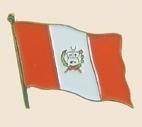 12 Pins - PERU , flag hat lapel badge pin sp248