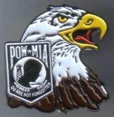 12 Pins - POW MIA w/ EAGLE war veteran lapel pin sp394