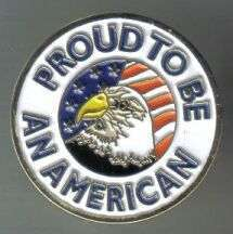 12 Pins - PROUD TO BE AMERICAN patriotic lapel pin 421
