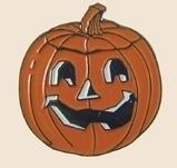 12 Pins - PUMPKIN , carved halloween lapel pin sp320