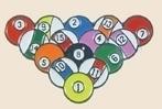 12 Pins - RACK OF POOL BALLS , player lapel pin sp095
