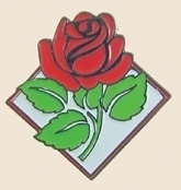 12 Pins - RED ROSE pretty flower roses lapel pin sp159
