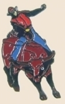 12 Pins - RODEO RIDER ON BULL , hat lapel pin sp145 - $18.00
