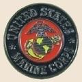 12 Pins - ROUND US MARINE CORPS usmc marines pin sp035