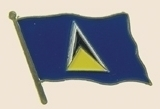 12 Pins - SAINT LUCIA st flag hat lapel badge pin sp263