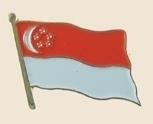 12 Pins - SINGAPORE , flag hat lapel badge pin sp257