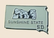 12 Pins - SOUTH DAKOTA , state hat lapel pin sp365