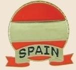 12 Pins - SPAIN EMBLEM , spanish flag lapel pin sp062