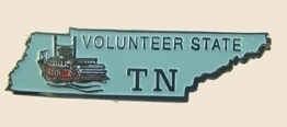 12 Pins - TENNESSEE , hat tac lapel pin sp366