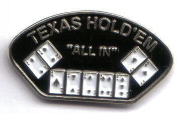 12 Pins - TEXAS HOLD EM ALL IN poker no limit pin sp468