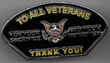 12 PINS - TO ALL VETERANS THANK YOU war , vet pin sp495 image 1