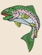 12 Pins - TROUT FISH , fishing fisherman hat pin sp176