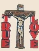 12 Pins - TRUE LOVE w/ JESUS CHRIST ON CROSS pin sp109