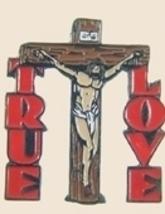 12 Pins - True Love w/ Jesus Christ On Cross Pin sp109 - $18.00