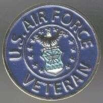 12 Pins - U.S. AIR FORCE VETERAN , usaf lapel pin sp418