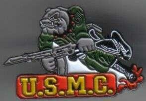 12 Pins - U.S.M.C w/ BULLDOG machine gun usmc pin sp402