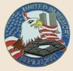 12 Pins - UNITED IN MEMORY September 11th hat pin sp037
