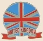 12 Pins - UNITED KINGDOM EMBLEM , uk flag pin sp064