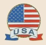 12 Pins - USA EMBLEM american flag us usa lapel pin 049