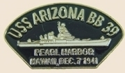 12 Pins - USS ARIZONA BB 39 ship lapel pin sp144