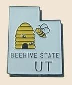 12 Pins - UTAH , state hat tac lapel pin sp368