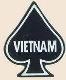 12 Pins - VIETNAM death card ace spades war pin sp091
