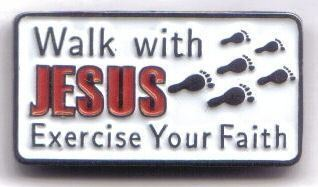 12 Pins - WALK WITH JESUS EXERCISE YOUR FAITH pin sp465