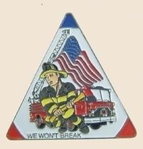 12 Pins - WE WON`T BREAK firefighter fire hat pin sp154