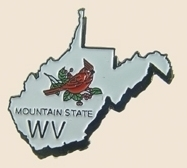 12 Pins - WEST VIRGINIA , state hat tac lapel pin sp372