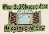 12 Pins - WHEN GOD CLOSES A DOOR , religous pin sp002