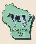 12 Pins - WISCONSIN , state hat tac lapel pin sp373