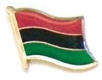 AFRO AMERICAN - Wholesale lot 12 flag lapel pins ef001