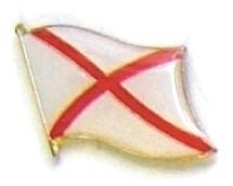 ALABAMA - Wholesale lot 12 state flag lapel pins ep501