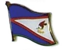 AMERICAN SAMOA - Wholesale lot 12 flag lapel pins ef201