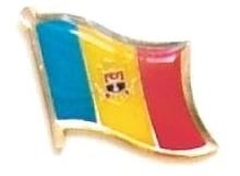 ANDORRA - Wholesale lot 12 flag lapel pins ef006