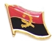 ANGOLA - Wholesale lot 12 flag lapel pins ef007