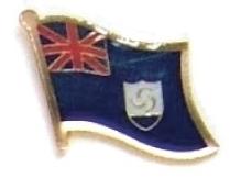 ANGUILLA - Wholesale lot of 12 flag lapel pins ef008